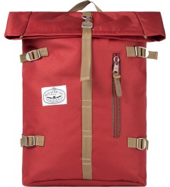 Poler Red Roll-Top Backpack Picutre