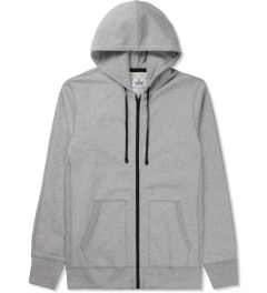 Reigning Champ Heather Grey RC-3260-1 Heavyweight Terry L/S Zip Front Hoodie Picture