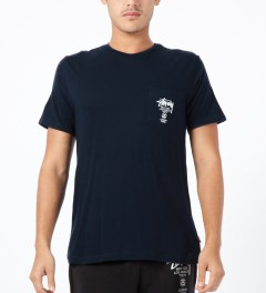 Stussy Navy World Tour S/S Pocket T-Shirt Model Picture