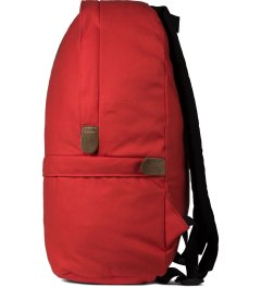 "Bedwin & The Heartbreakers Red ""WAFFLE"" Day Pack Model Picutre"