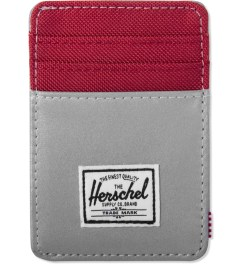 Herschel Supply Co. Silver/Red Poly Raven 3M Cardholder Picutre