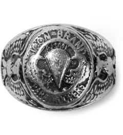 Icon Brand Burnished Silver Vintage Military Ring Picture
