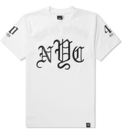 40 oz NYC White OLDE New York T-Shirt Picutre