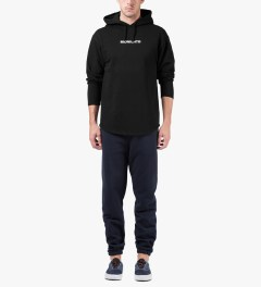 Midnight Studios Black Logo Lightweight Hoodie Model Picutre