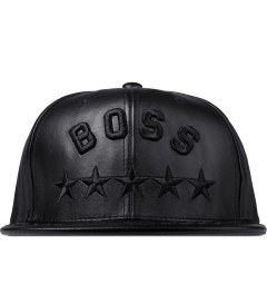 Undefeated Black Boss Leather Cap Picutre