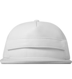 Stampd White Velcro Lambskin Snapback Cap Picture