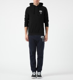 Stussy Black World Tour Hoodie Model Picture