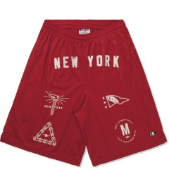 Mott Street Cycles Red New York Shorts Picutre