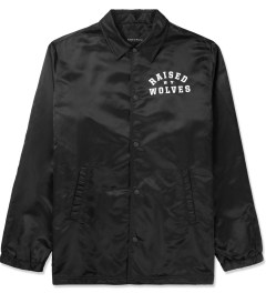 Raised by Wolves Black College Coaches Jacket Picture