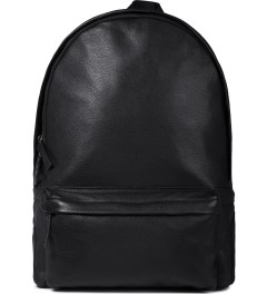 IISE Black Leather Daypack Backpack Picture