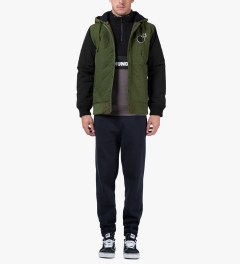 The Hundreds Olive Tour Jacket Model Picutre
