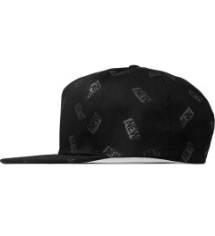 Stampd Black NEW Print Snapback Cap Model Picture