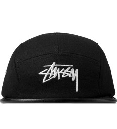 Stussy Black Melton Wool Camp Cap Picutre