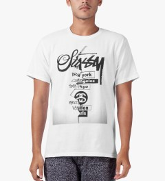 Stussy White WT Cutout T-Shirt Model Picture