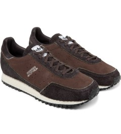 adidas Originals NEIGHBORHOOD x adidas Originals Brown NH Cityrun Shoes Model Picture