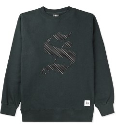 "Stussy Charcoal Old English ""S"" Crew Sweater Picutre"