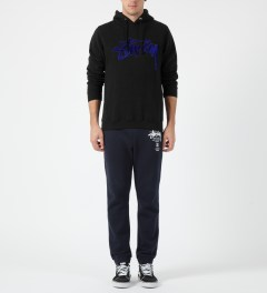 Stussy Black Velvet Stock Hoodie Model Picture