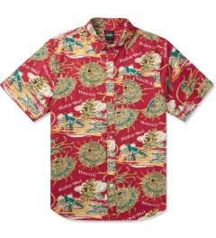 HUF Red Souvenir S/S Woven Shirt Picture