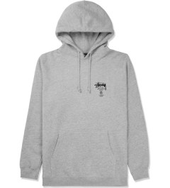 Stussy Heather Grey World Tour Hoodie Picture
