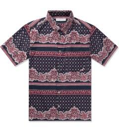 Head Porter Plus Navy Paisley S/S Shirt Picture