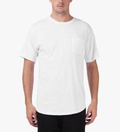 Midnight Studios White Classic Pocket T-Shirt Model Picutre