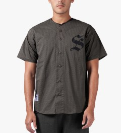 Stussy Grey S Baseball SU14 Jersey Model Picture