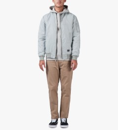 Stussy Silver Classic MA-1 Jacket Model Picutre