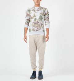 Penfield Hunting Print Huntington Crewneck Sweater Model Picture