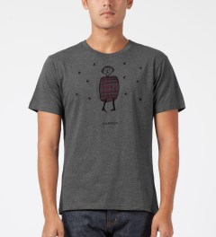Carven Mottled Grey Little Chap Embroidered T-Shirt Model Picture