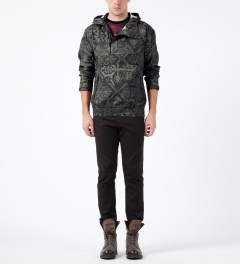 Black Scale Olive Erlanger Jacket Model Picture