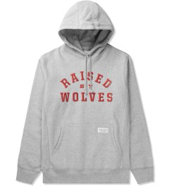 Raised by Wolves Heather Grey College Pullover Hoodie Picture