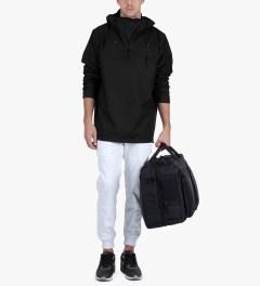 RAINS Black Anorak Jacket Model Picutre
