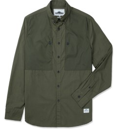 Penfield Olive Lumsden Collarless Overshirt Picture
