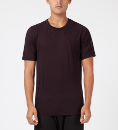 SILENT Damir Doma Maroon Thyri Piping T-Shirt Model Picture
