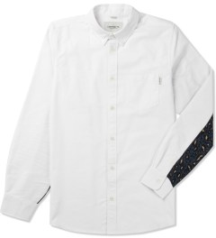 Carhartt WORK IN PROGRESS White/Leopard Print Mitchell Rinsed L/S Raymond Shirt Picutre