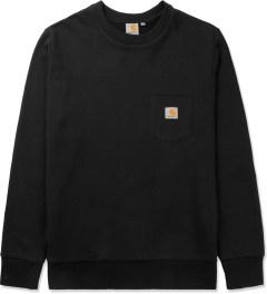 Carhartt WORK IN PROGRESS Black Pocket Crewneck Sweater Picutre