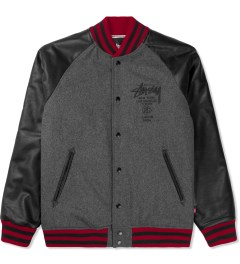 Stussy Charcoal World Tour Wool Jacket Picture