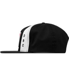 HUF Black Worldwide Snapback Cap Model Picture