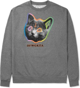 Odd Future Gunmetal Grey OFWGKTA Tron Cat Crewneck Sweater Picture