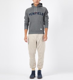 Penfield Grey Melange Starkville Hoodie Model Picture