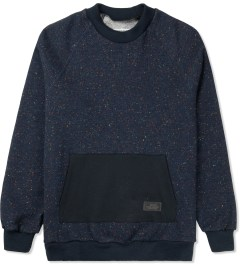 Patrik Ervell Navy Mock Neck Kangaroo Pocket Sweater Picture