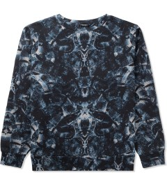 Marcelo Burlon Black/Blue Snake Print Crewneck Sweater Picture