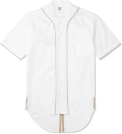 CLOT White Fishtail Leather Baseball Shirt Picture