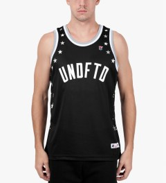 Undefeated Black Global Mesh Tank Top Model Picutre