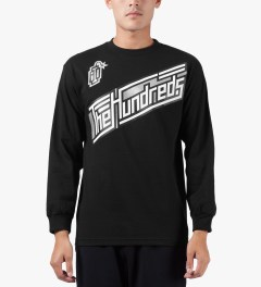 The Hundreds Black Motion L/S T-Shirt Model Picture