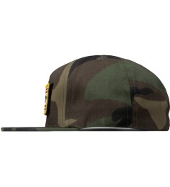 HUF Woodland Camo Fuck It Tactical Snapback Cap Model Picture