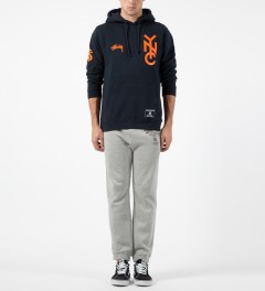 Stussy Navy NYC 80 Hoodie Model Picture