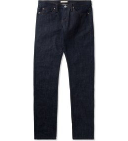 The Unbranded Brand UB121 Indigo Skinny 21oz Heavy Selvedge Jeans Picture