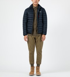 Penfield Navy Naklin LW Packable Tech Down Shirt Model Picture