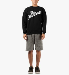 The Hundreds Black Forever Slant Crewneck Sweater Model Picture